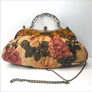 Handbags - Victorian Beaded Clutch Crossbody Bag